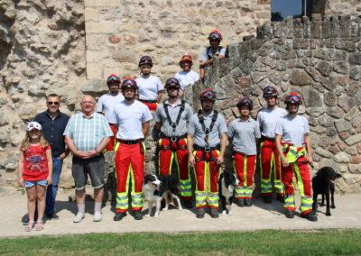 Photo - L'Unité Cynotechnique en entraînement au Château d'Useldange
