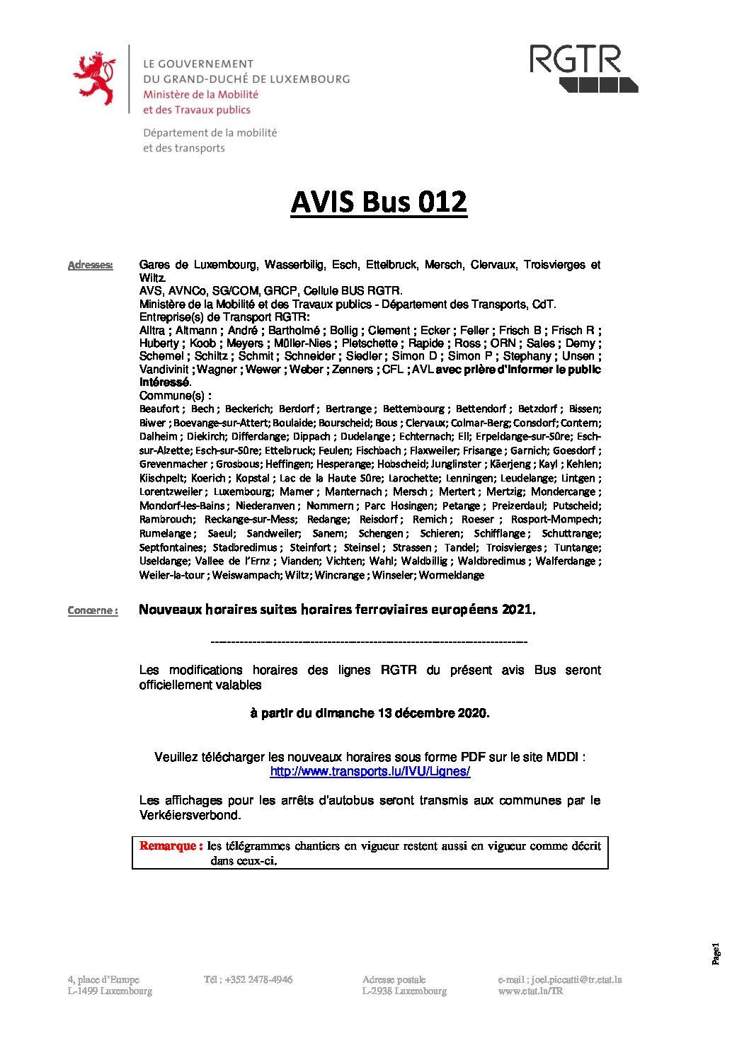 Avis RGTR Bus 012