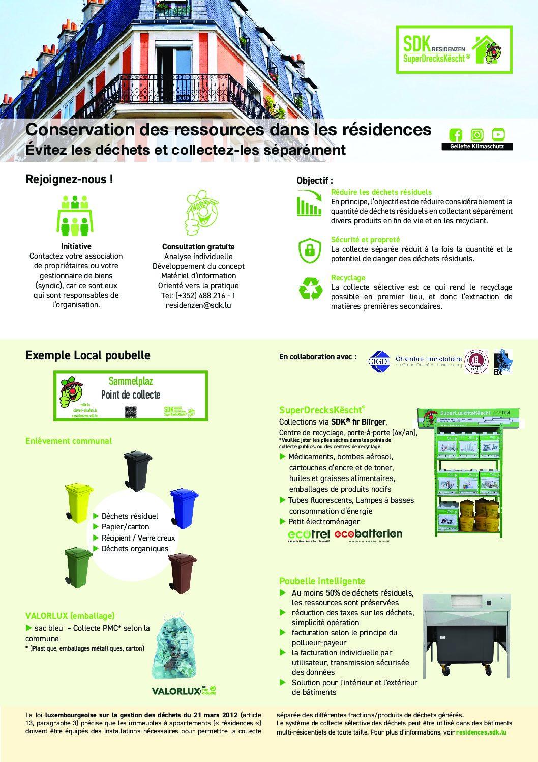 Flyer Conservation des ressources dans les résidences