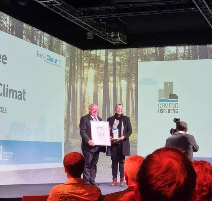 Pacte Climat – Certificat en or pour la Commune d'Useldange